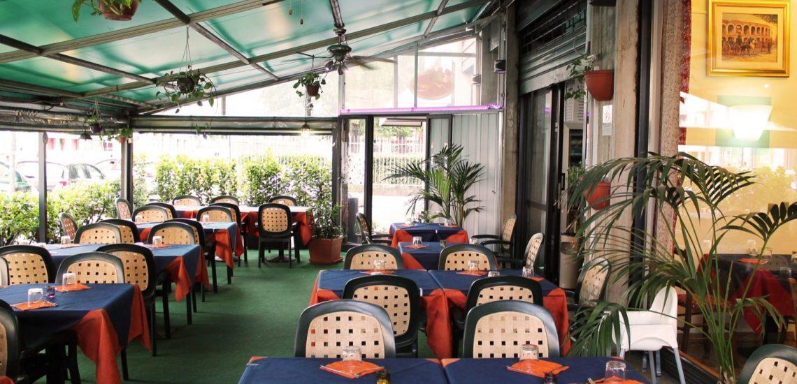 Pizzeria Maestà Verona sala all'aperto